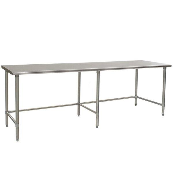 """Eagle Group T2496STEB 24"""" x 96"""" Open Base Stainless Steel Commercial Work Table"""