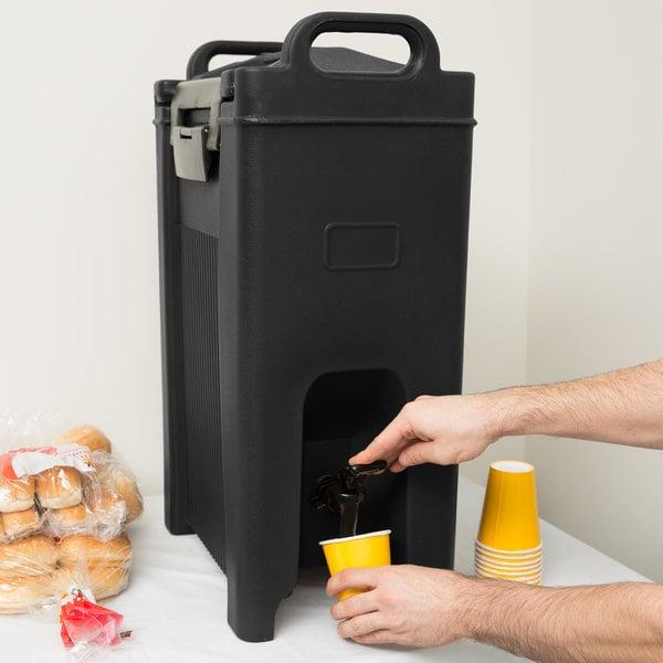 Carlisle XT500003 Cateraide 5 Gallon Black Insulated Beverage Dispenser