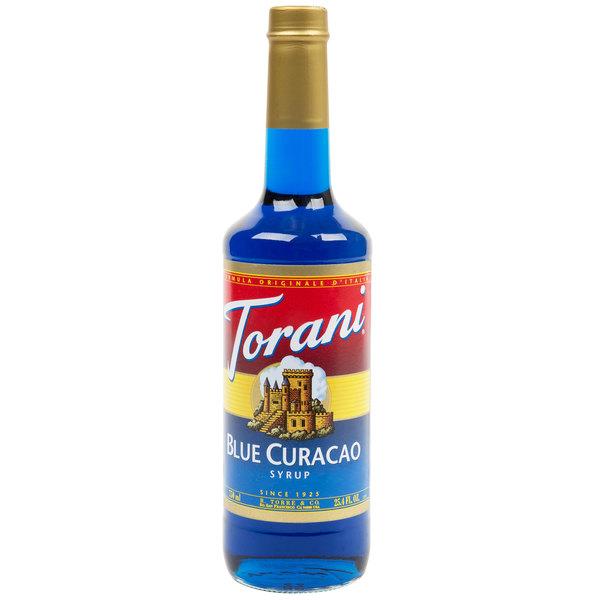 Torani 750 mL Blue Curacao Flavoring Syrup Main Image 1