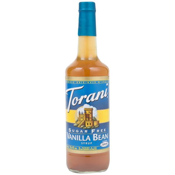Torani 750 mL Sugar Free Vanilla Bean Flavoring Syrup Main Image 1