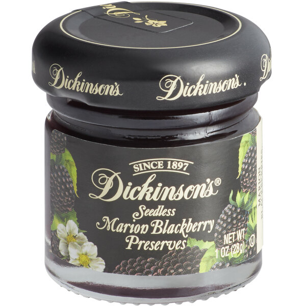 Dickinson's 1 oz. Marion Blackberry Preserves - 72/Case