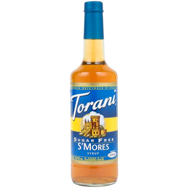 Torani 750 mL Sugar Free S'mores Flavoring Syrup