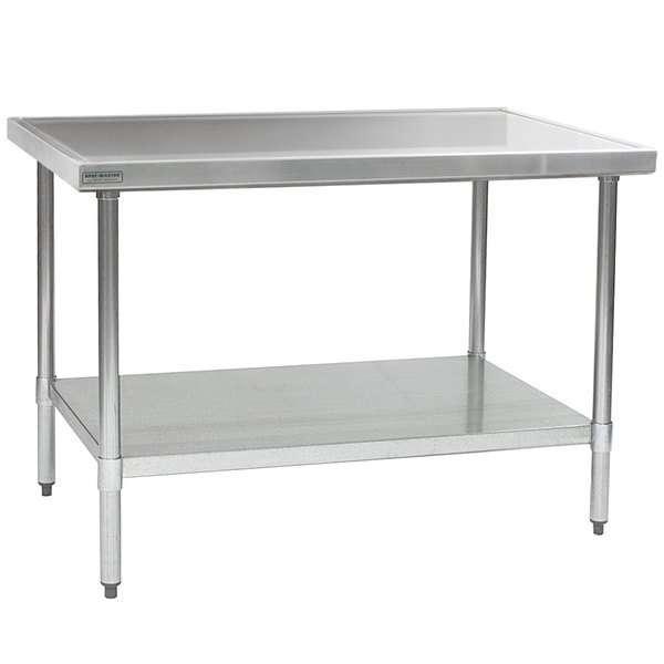 """Eagle Group T3060SEM 30"""" x 60"""" Stainless Steel Work Table with Undershelf"""
