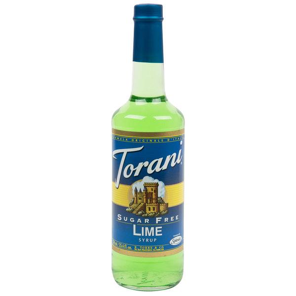 Torani 750 mL Sugar Free Lime Flavoring / Fruit Syrup Main Image 1
