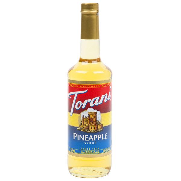 Torani 750 mL Pineapple Flavoring / Fruit Syrup