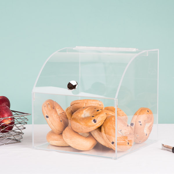 """Cal-Mil 945 12 1/2"""" Square Curved Top Acrylic Display Case"""