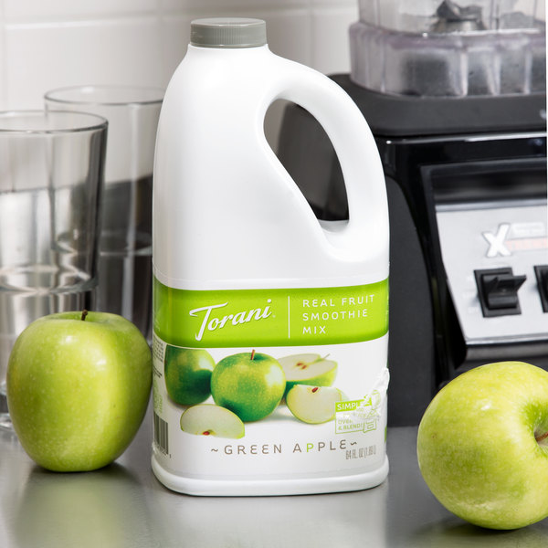 Torani 64 fl. oz. Green Apple Fruit Smoothie Mix Main Image 2