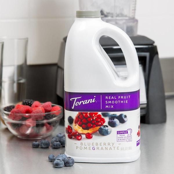 Torani 64 oz. Blueberry Pomegranate Fruit Smoothie Mix