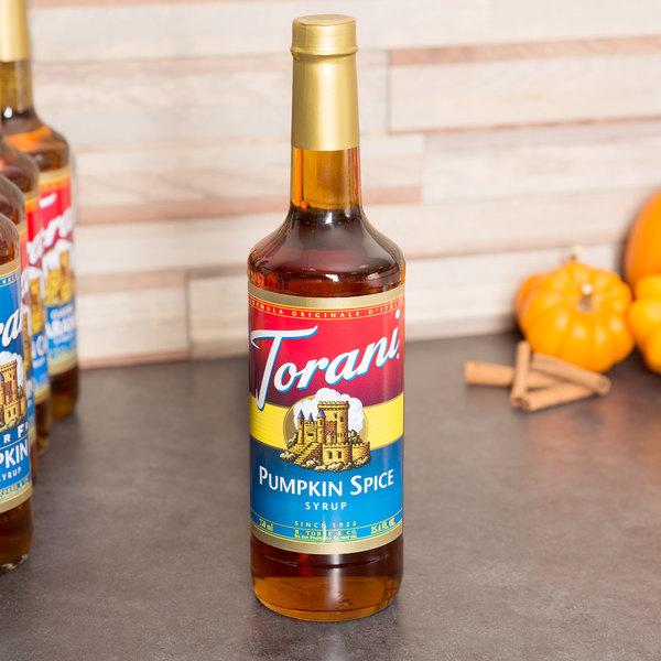 Torani 750mL Pumpkin Spice Flavoring Syrup