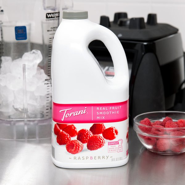 Torani 64 fl. oz. Raspberry Fruit Smoothie Mix Main Image 2