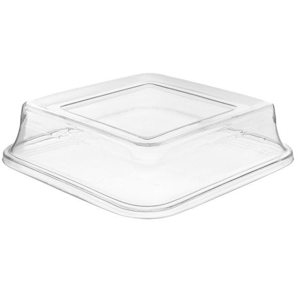 "Carlisle 44402C07 Palette Designer Displayware Polycarbonate Cover for 14"" Square Bowl - 12/Case"