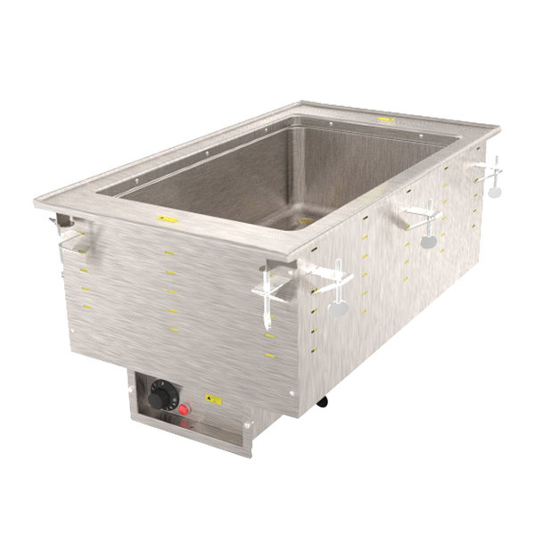 Vollrath 36471 Modular Drop In One Compartment Hot Food Well with Infinite Controls and Standard Drain - 240V, 625W