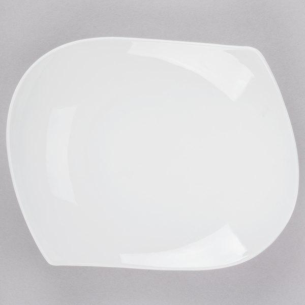 CAC PCH-12 Bone White Porcelain Peach Plate - 12/Case