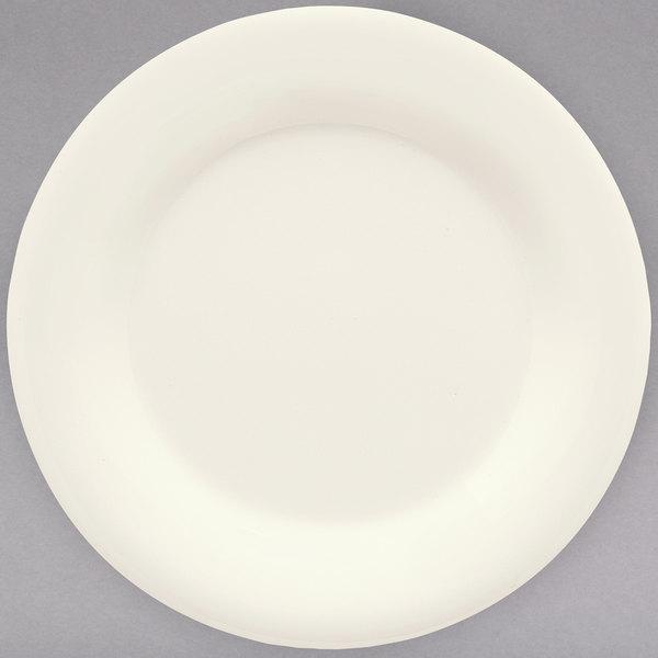 "GET WP-10-DI Diamond Ivory 10 1/2"" Wide Rim Plate - 12/Case"