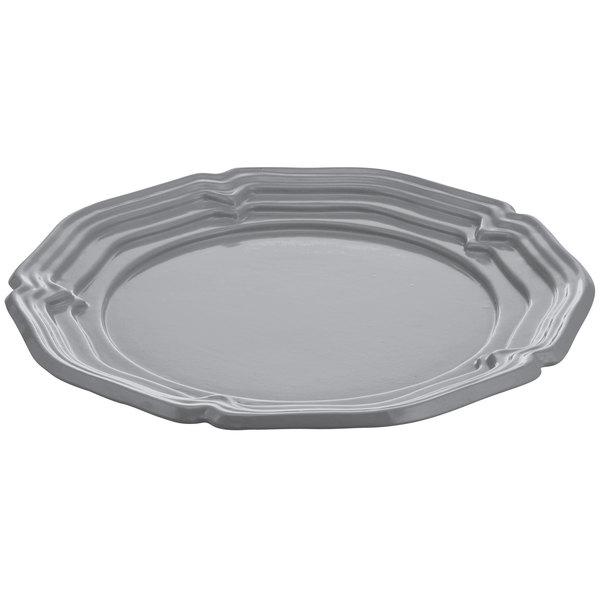 "Tablecraft CW6110N Natural 18"" Cast Aluminum Queen Anne Round Platter"