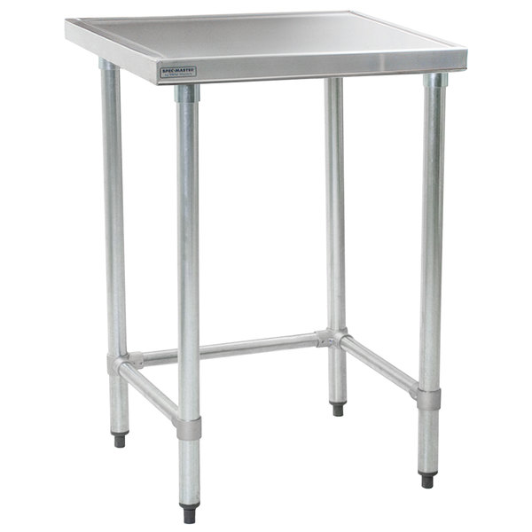 """Eagle Group T3030STEM 30"""" x 30"""" Open Base Stainless Steel Commercial Work Table"""