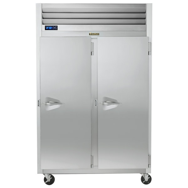 Traulsen G20017P 2 Section Solid Door Pass-Through Refrigerator - Right / Right Hinged Doors