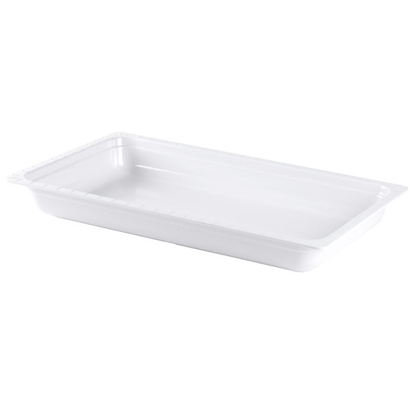 GET ML-19-WH White Melamine Full Size 2 1/2 inch Deep Food Pan
