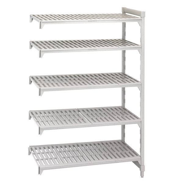 "Cambro CPA245464V5480 Camshelving® Premium 5 Shelf Vented Add On Unit - 24"" x 54"" x 64"""