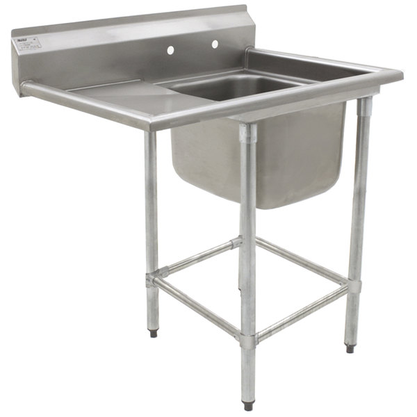 """Eagle Group FN2424-1-24-14/3 One 24"""" x 24"""" Bowl Stainless Steel Spec-Master Commercial Compartment Sink with 24"""" Drainboard"""