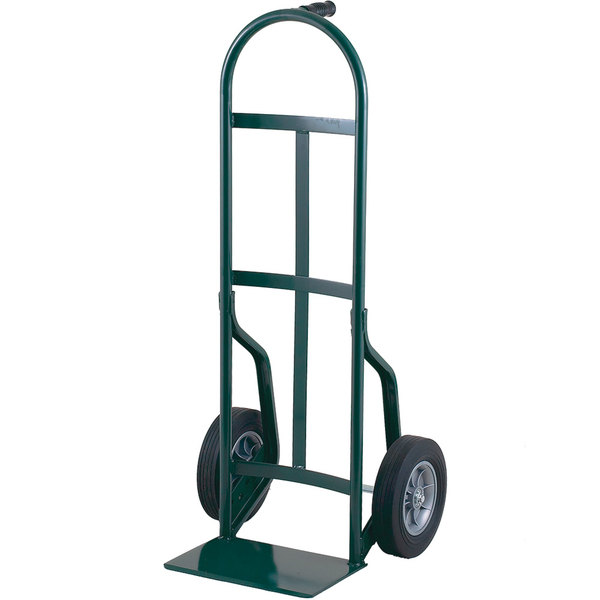 "Harper 40T64 Continuous Dual Pin Handle 800 lb. Steel Hand Truck with 10"" x 2 1/2"" Solid Rubber Wheels"
