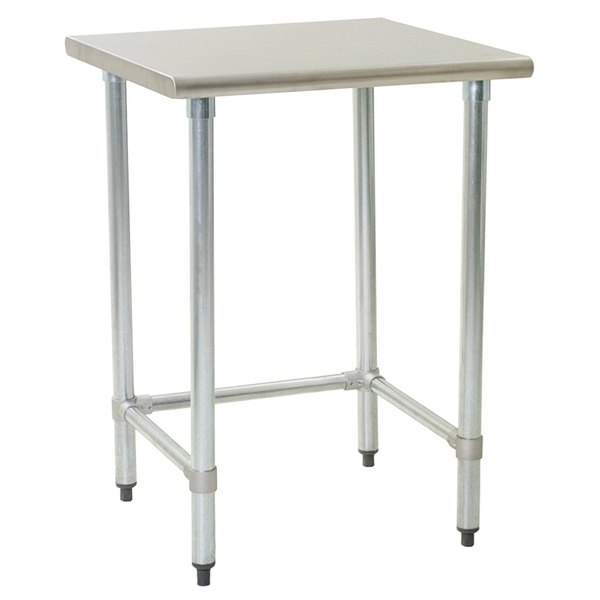 """Eagle Group T2424GTEB 24"""" x 24"""" Open Base Stainless Steel Commercial Work Table"""