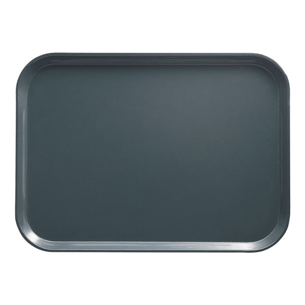 "Cambro 1622401 16"" x 22"" Rectangular Slate Blue Customizable Fiberglass Camtray - 12/Case"