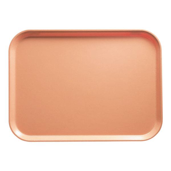 "Cambro 1622117 16"" x 22"" Rectangular Dark Peach Customizable Fiberglass Camtray - 12/Case"