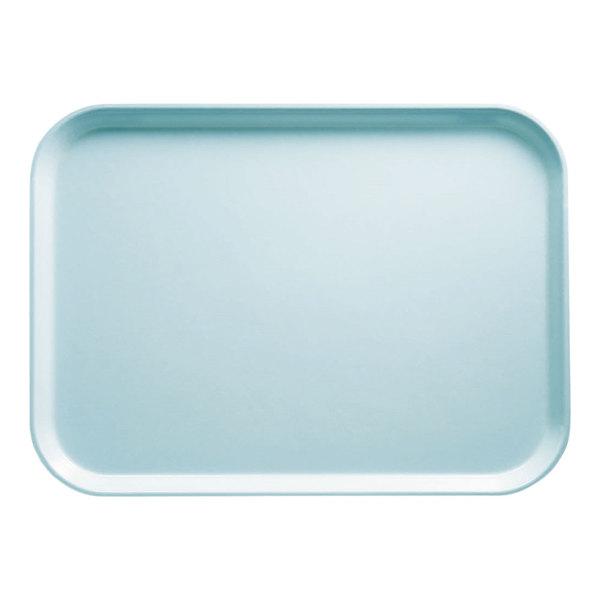 "Cambro 1622177 16"" x 22"" Rectangular Sky Blue Customizable Fiberglass Camtray - 12/Case"