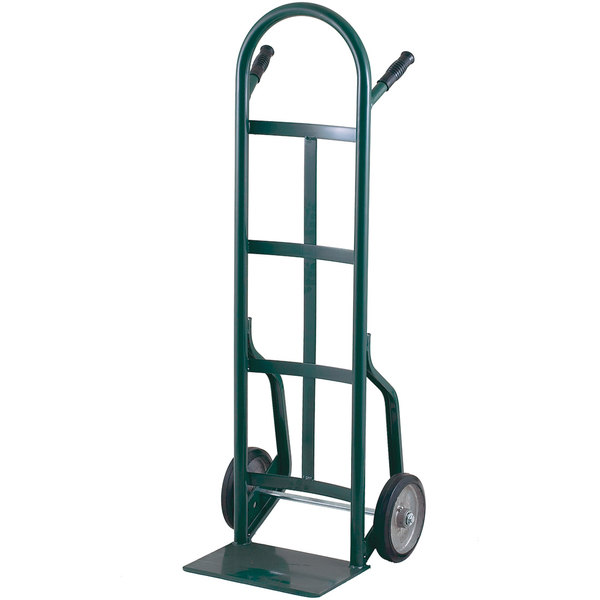 """Harper 40T16 Continuous Dual Pin Handle 800 lb. Steel Hand Truck with 10"""" x 3 1/2"""" Pneumatic Wheels"""