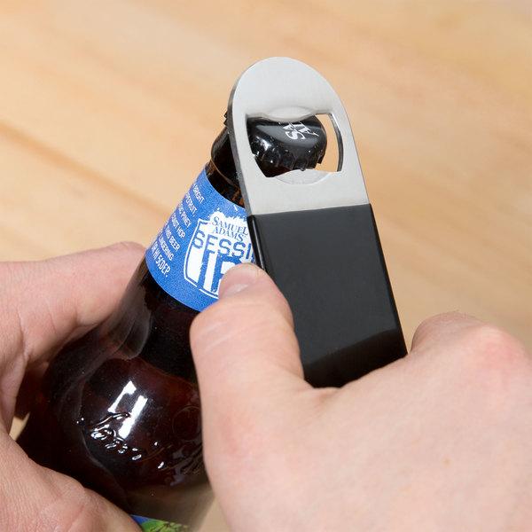 Black Flat Bottle Opener