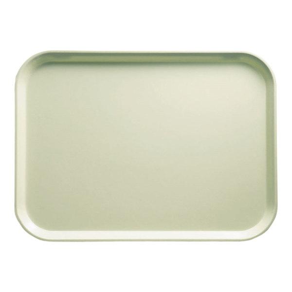 "Cambro 1216429 12"" x 16 5/16"" Rectangular Key Lime Customizable Fiberglass Camtray - 12/Case"