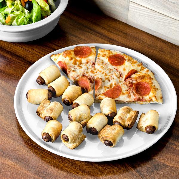 "Homer Laughlin 575100 Fiesta White 12"" China Pizza / Baking Tray - 4/Case"