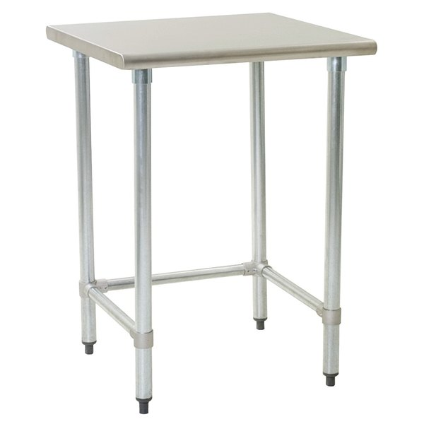 """Eagle Group T3030GTE 30"""" x 30"""" Open Base Stainless Steel Commercial Work Table"""