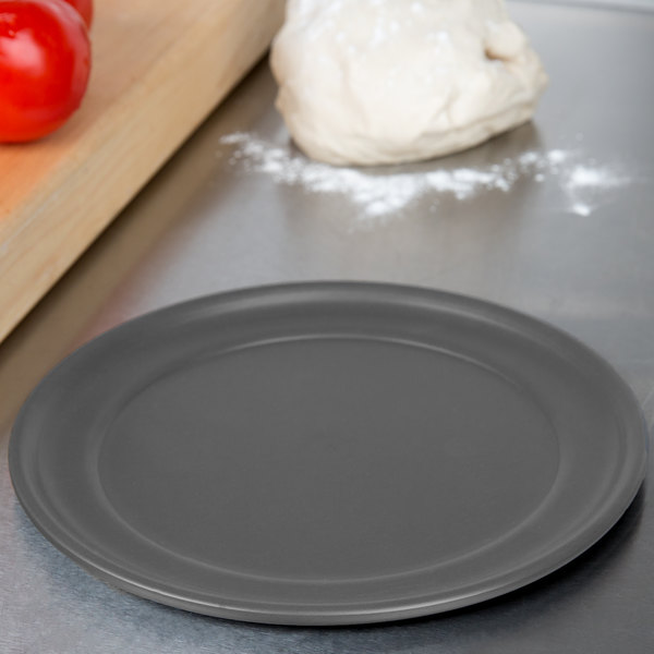 "American Metalcraft HCTP17 17"" Hard Coat Anodized Aluminum Wide Rim Pizza Pan Main Image 3"