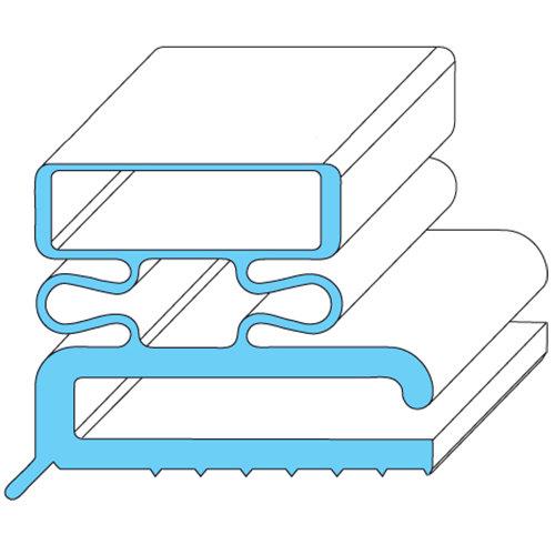 """Traulsen SER-04503-00 Equivalent Rubber Magnetic Door Gasket - 23 3/8"""" x 29 3/8"""" Main Image 1"""