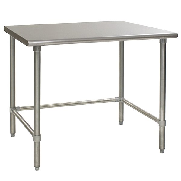"Eagle Group T3048GTE 30"" x 48"" Open Base Stainless Steel Commercial Work Table"