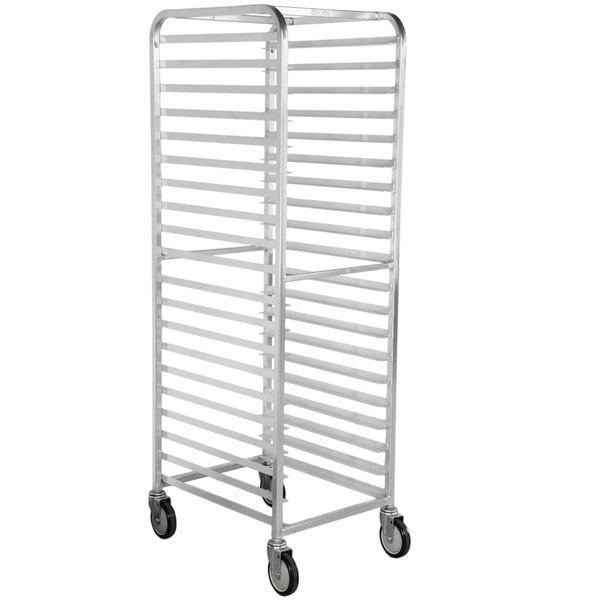 Winholt AL-1820B 20 Pan End Load Medium-Duty Aluminum Bun / Sheet Pan Rack - Assembled Main Image 1
