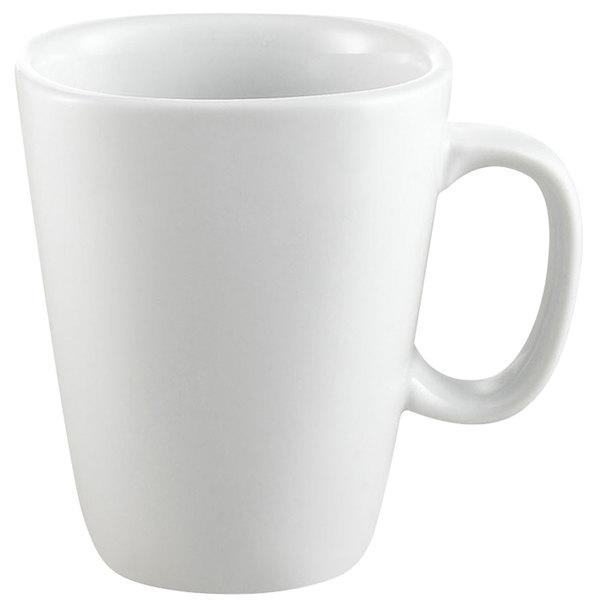 CAC KSE-M8 Gourmet 8 oz. Bright White Square Porcelain Mug - 36/Case