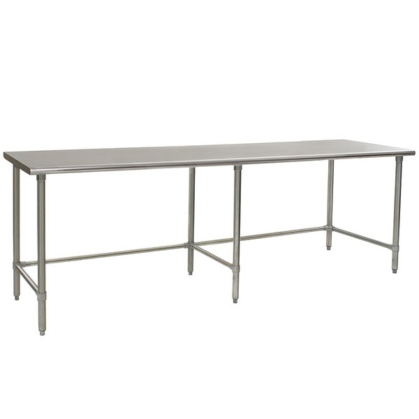 "Eagle Group T36120GTEB 36"" x 120"" Open Base Stainless Steel Commercial Work Table"