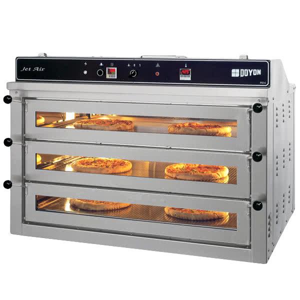 Doyon PIZ6G Liquid Propane Triple Deck Pizza Oven - 120V, 70,000 BTU