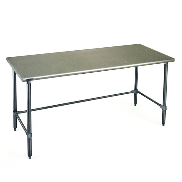 """Eagle Group T3672GTEB 36"""" x 72"""" Open Base Stainless Steel Commercial Work Table"""