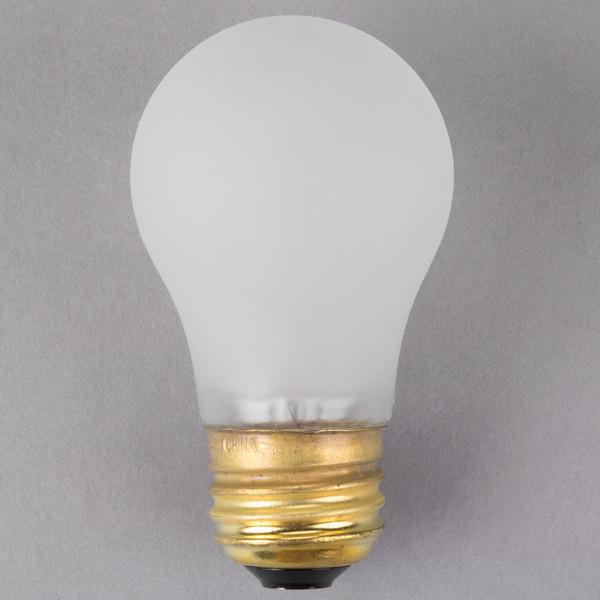"3 1/2"" x 1 7/8"" Silicone Coated Shatterproof Light Bulb - 130V, 40W"
