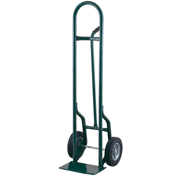 """Harper 35T77 Single Pin Handle 800 lb. Tall Steel Hand Truck with 8"""" x 1 5/8"""" Mold-On Rubber Wheels"""