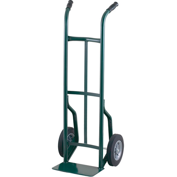 "Harper 50TK19 Dual Handle 600 lb. Steel Hand Truck with 10"" x 3 1/2"" Pneumatic Wheels"