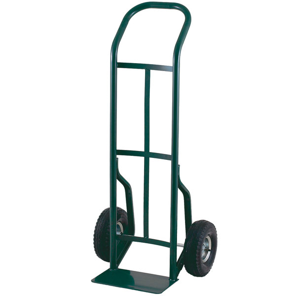 "Harper 52T86 Continuous Handle 600 lb. Steel Hand Truck with 10"" x 2"" Solid Rubber Wheels"