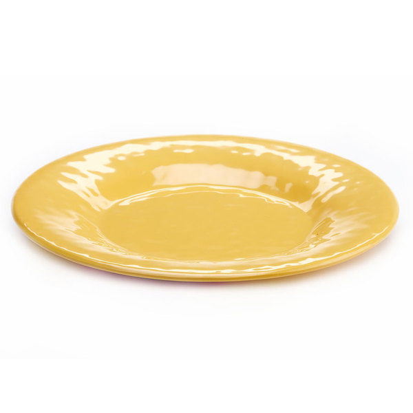"Elite Global Solutions D12P Tuscany 12 1/4"" Mustard Yellow Melamine Plate"