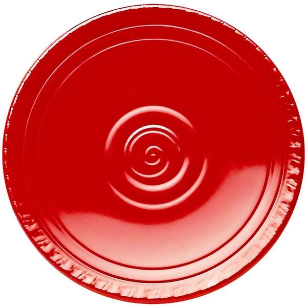 """Elite Global Solutions V91 Hot Cha-Cha Red 9"""" Round Plate"""