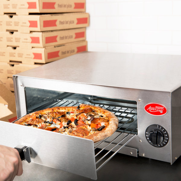 Avantco CPO-12 Stainless Steel Countertop Pizza / Snack Oven - 120V, 1450W Main Image 5