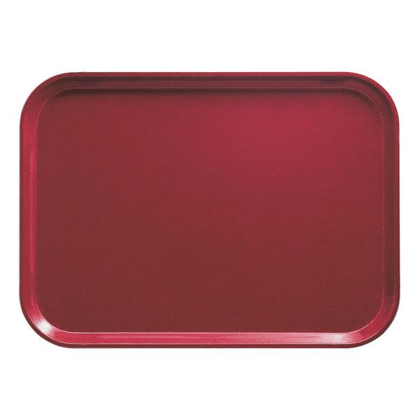 "Cambro 1418505 14"" x 18"" Rectangular Cherry Red Customizable Fiberglass Camtray - 12/Case"